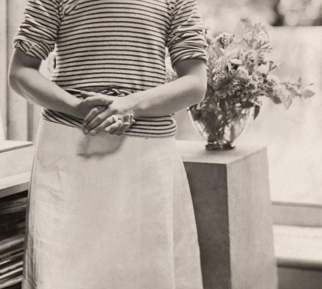 Paul Laib. 'Hepworth in the Mall Studio, London' 1933 (detail)