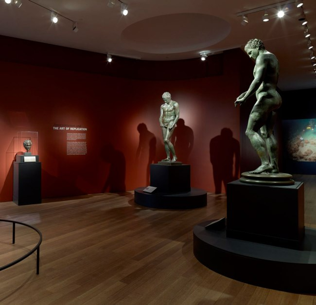 Installation view of the exhibition 'Power and Pathos' at the J. Paul Getty Museum, Los Angeles