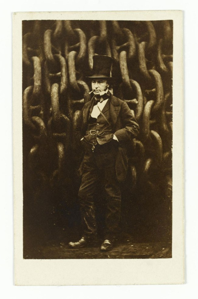 Robert Howlett, London. 'Isambard Kingdom Brunel Standing Before the Launching Chains of the Great Eastern' November 1857