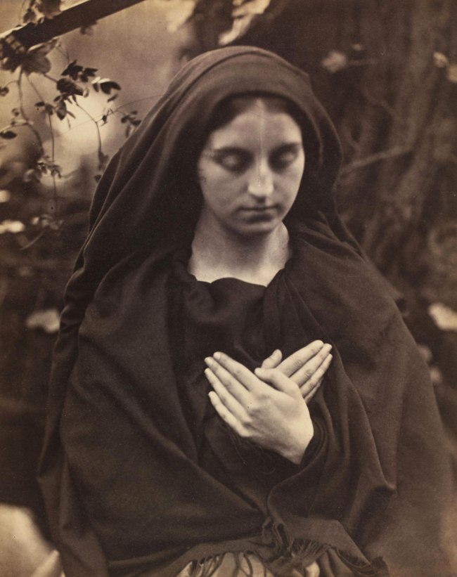 Julia Margaret Cameron. 'Il Penseroso; Come pensive nun devout and pure, Sober, stedfast and demure; Portrait or rather Study of Lady Adelaide Talbot' May 1865