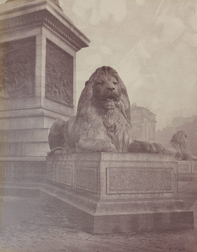 Unknown photographer. 'Trafalgar Square' c. 1867