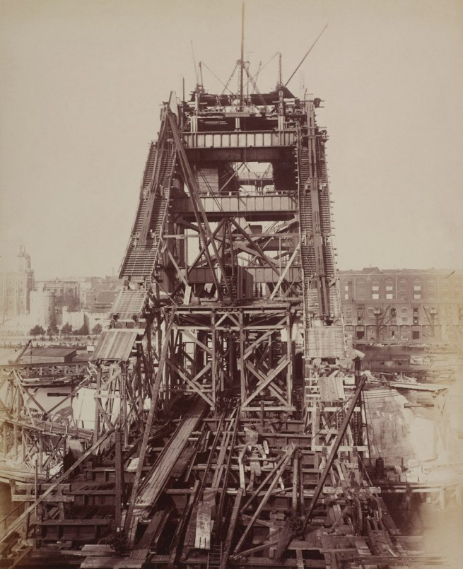 Unknown photographer. 'Construction of Tower Bridge' 1892