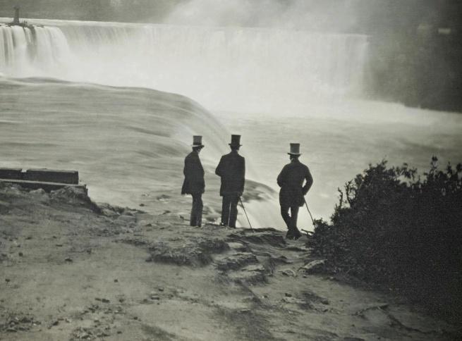 Platt D Babbitt (1822-79) 'Niagara Falls from the American side' (detail) c. 1855