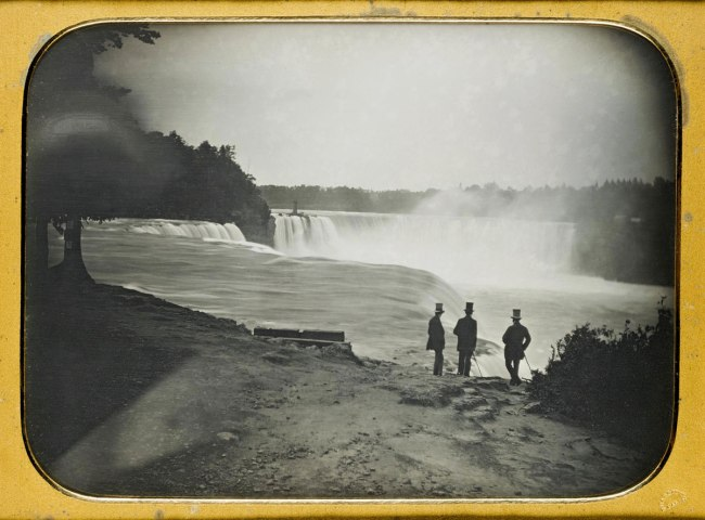 Platt D Babbitt. 'Niagara Falls from the American side' whole plate daguerreotype c.1855