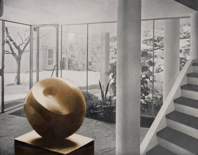 Barbara Hepworth. 'Photo-collage with Helicoids in Sphere in the entrance hall of flats designed by Alfred and Emil Roth and Marcel Breuer at Doldertal, Zurich' 1939