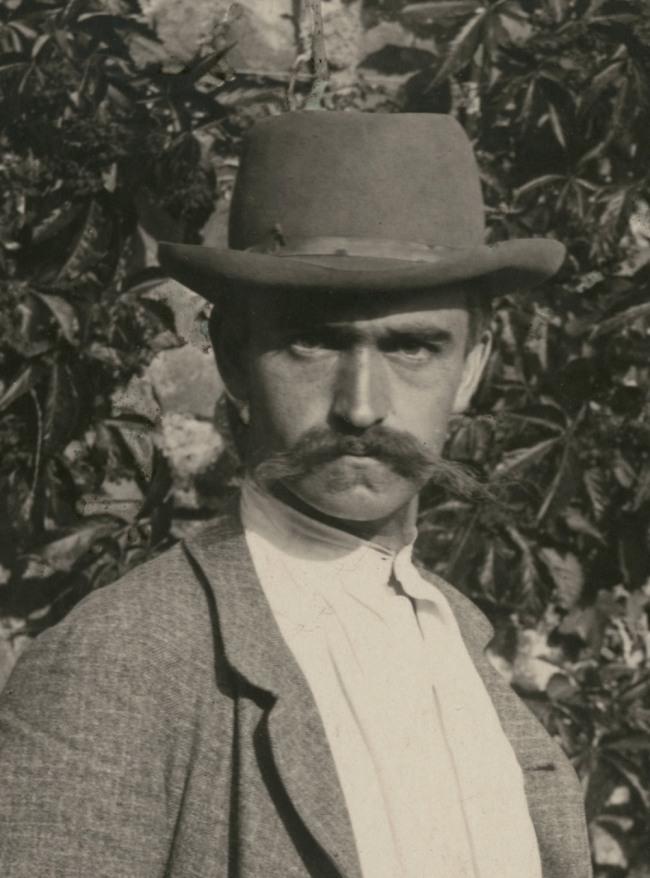 Karl Blossfeldt. 'Self portrait, Rome' 1895 (detail)
