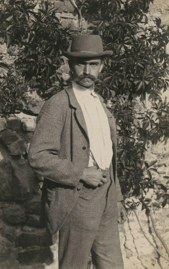 Karl Blossfeldt. 'Self portrait, Rome' 1895