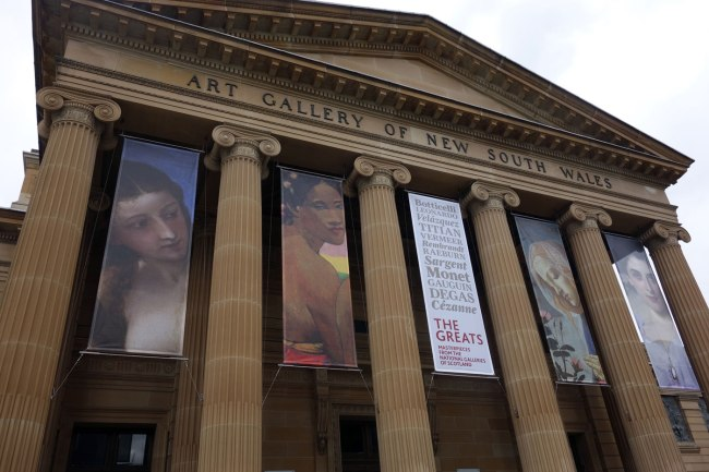 Entrance to the Art Gallery of New South Wales, Sydney