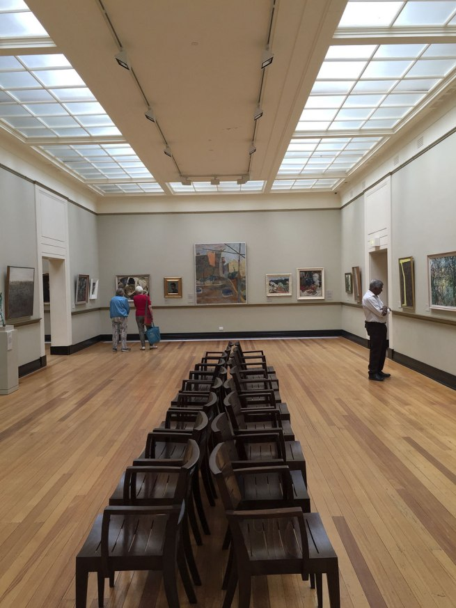 View of Castlemaine Art Gallery and Historical Museum with works in situ