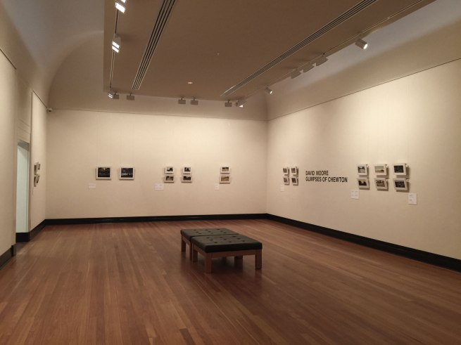 Installation photograph of David Moore's exhibition 'Glimpses of Chewton' at the Castlemaine Art Gallery and Historical Museum