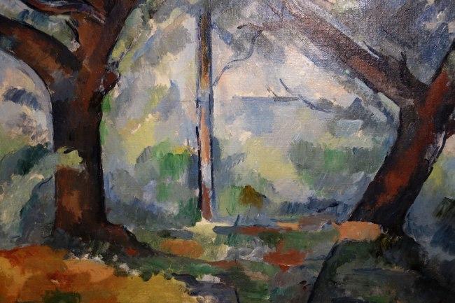 Paul Cézanne (France, 1839-1906) 'The big trees' (detail) c. 1904