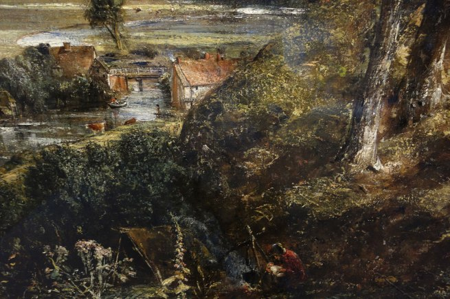 John Constable (England, 1776-1837) 'The Vale of Dedham' (details) c. 1827-28