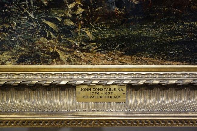 John Constable (England, 1776-1837) 'The Vale of Dedham' (details) c. 1827-28