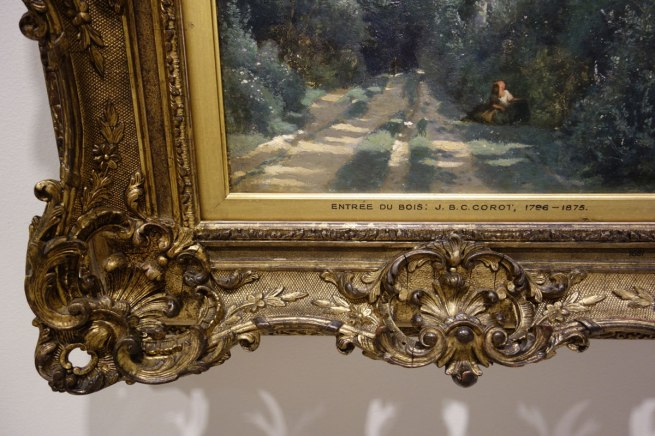 Camille Corot (France, 1796-1875) 'Ville-d'Avray: entrance to the wood' (detail) c. 1825, with later retouching