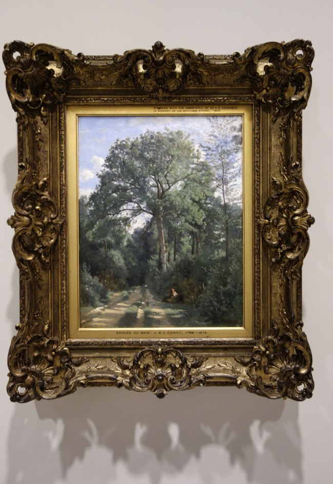 Camille Corot (France, 1796-1875) 'Ville-d'Avray: entrance to the wood' c. 1825, with later retouching
