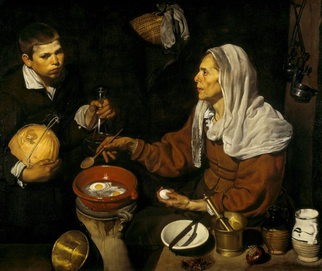 Diego Velazquez (Spain, 1599-1660) 'An old woman cooking eggs' 1618