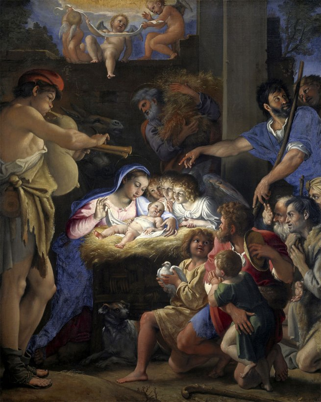Domenichino (Domenico Zampieri) (Italy, 1581-1641) 'The adoration of the shepherds' c. 1606-08