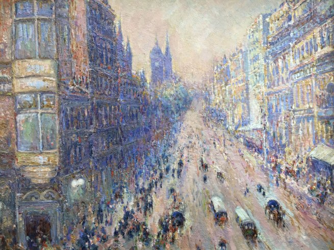 Edward J Shearsby. 'An Impression of Collins Street' c. 1910 (detail)
