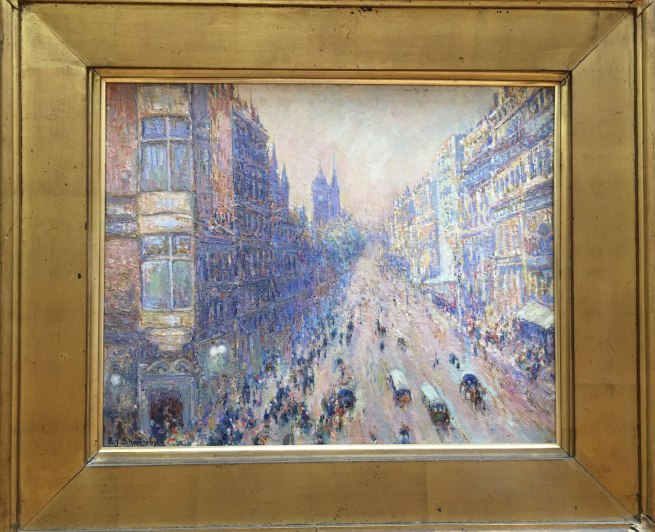 Edward J Shearsby. 'An Impression of Collins Street' c. 1910
