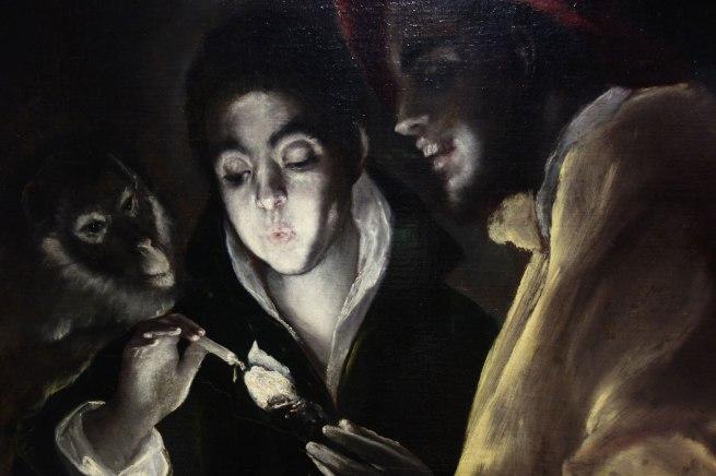 El Greco (Domenikos Theotokopoulos) (Greece/Spain, 1541-1614) 'An allegory (Fábula)' (detail) c. 1585-95