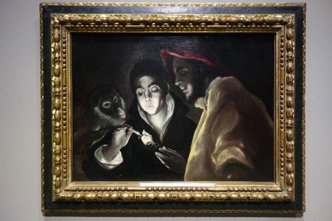 El Greco (Domenikos Theotokopoulos) (Greece/Spain, 1541-1614) 'An allegory (Fábula)' c. 1585-95
