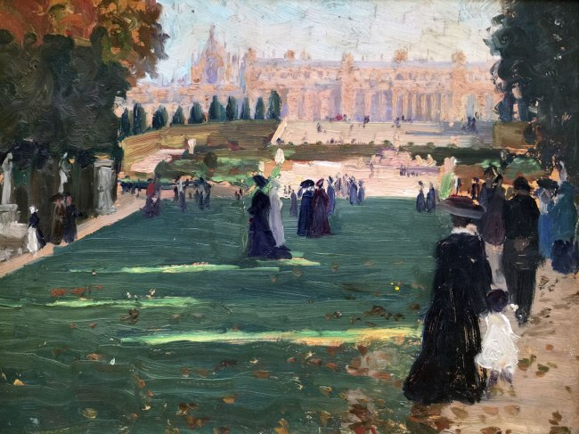 Ethel Carrick (1872-1952) 'Untitled (Royal Avenue, Versailles)' c. 1909 (detail)
