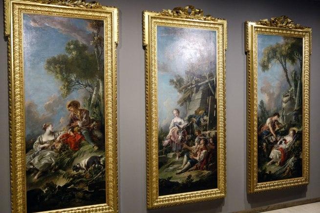 François Boucher (France, 1703–70) Pastoral scene: l'offrande à la villageoise 1761 Pastoral scene: la jardinière endormie 1762 Pastoral scene: l'aimable pastorale 1762