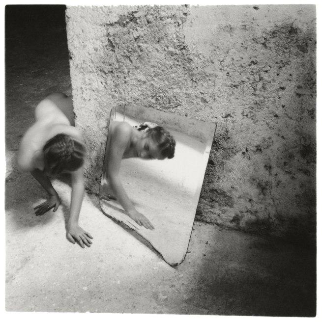 Francesca Woodman. 'Self-deceit #1', Rome, Italy, 1978