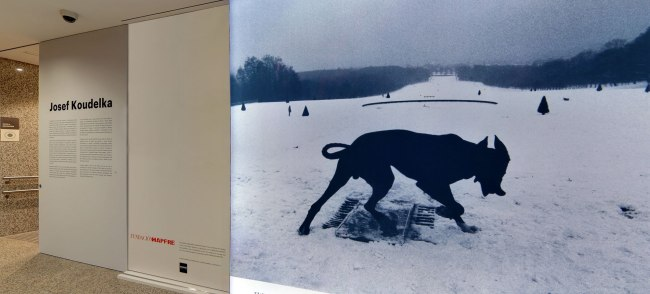 Entrance view of the exhibition 'Josef Koudelka: Uncertain Nationality' at Fundación MAPFRE, Madrid