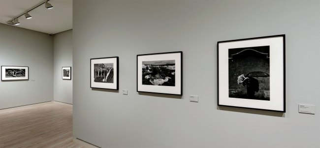 Installation view of the Exiles section of the exhibition 'Josef Koudelka: Uncertain Nationality' at Fundación MAPFRE, Madrid
