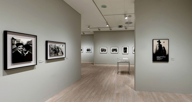 Installation view of the Gypsies section of the exhibition 'Josef Koudelka: Uncertain Nationality' at Fundación MAPFRE, Madrid