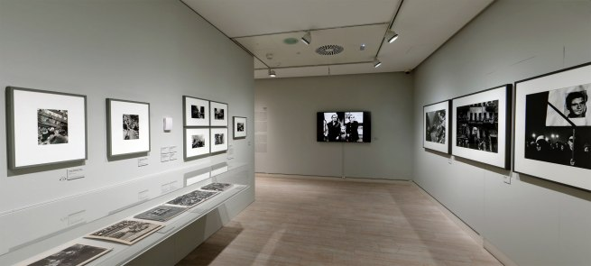 Installation view of the Invasion section of the exhibition 'Josef Koudelka: Uncertain Nationality' at Fundación MAPFRE, Madrid