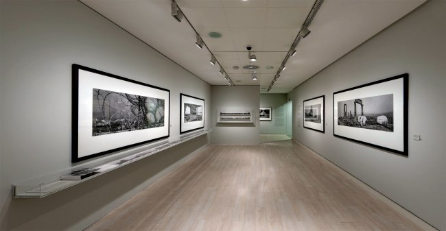 Installation view of the Panoramas section of the exhibition 'Josef Koudelka: Uncertain Nationality' at Fundación MAPFRE, Madrid