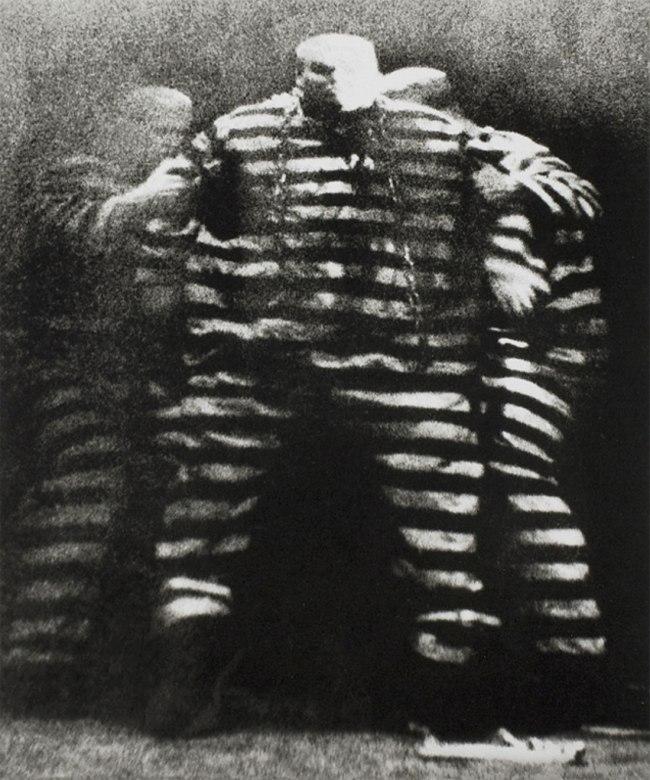 Josef Koudelka. 'Theatre on the Balustrade, King Ubu (by playwright Alfred Jarry), Prague' 1964