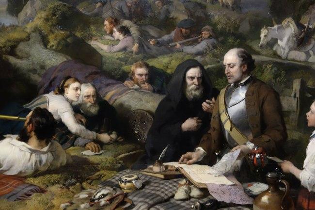 Sir Edwin Landseer (England, 1802-73) 'Rent-day in the wilderness' (detail) 1868