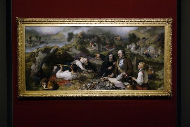 Sir Edwin Landseer (England, 1802-73) 'Rent-day in the wilderness' 1868