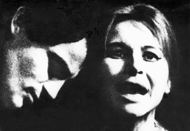 Josef Koudelka. 'An Hour of Love by Josef Topol, Divadlo za branou [Theater behind the Door], Prague' 1968