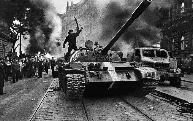 Josef Koudelka. '(Czech citizen on tank)' 1968