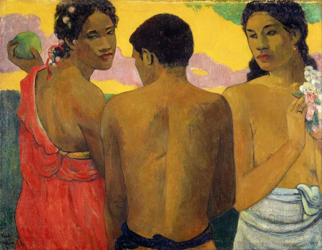 Paul Gauguin (France, 1848-1903) 'Three Tahitians' 1899