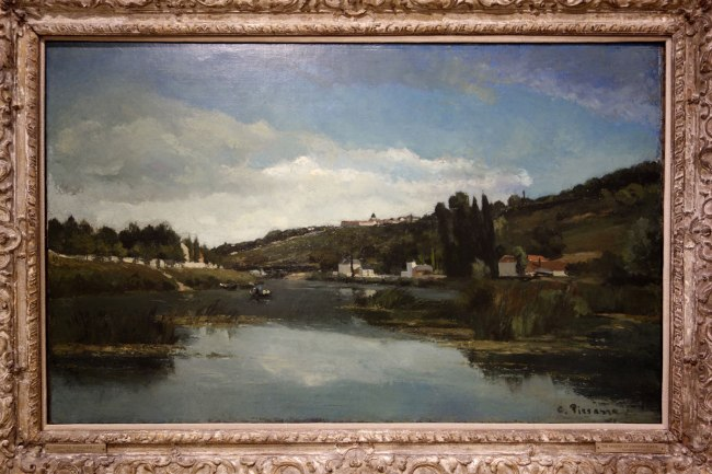 Camille Pissarro (France, 1830-1903) 'The Marne at Chennevières' c. 1864-65
