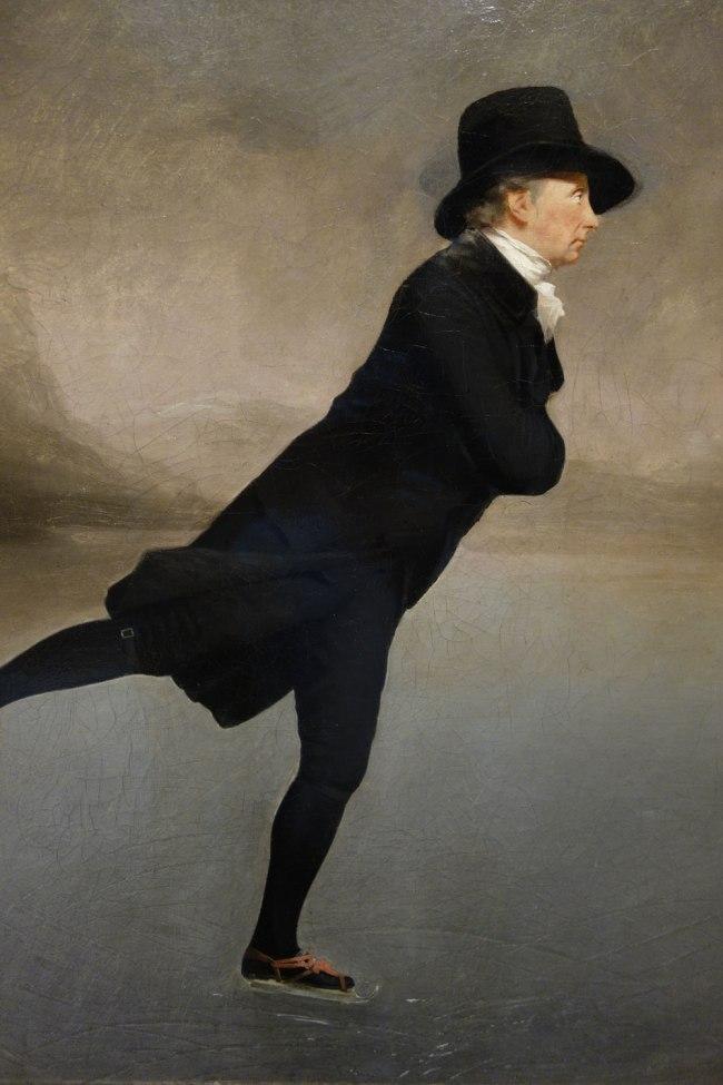 Sir Henry Raeburn (Scotland, 1756-1823) 'The Reverend Robert Walker skating on Duddingston Loch' c. 1795 (detail)