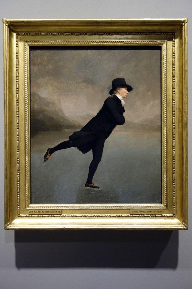 Sir Henry Raeburn (Scotland, 1756-1823) 'The Reverend Robert Walker skating on Duddingston Loch' c. 1795