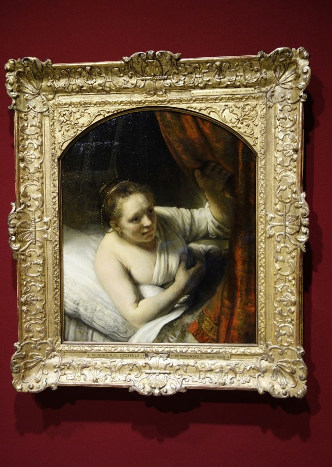Rembrandt van Rijn (The Netherlands, 1606-69) 'A woman in bed' 164(7?)