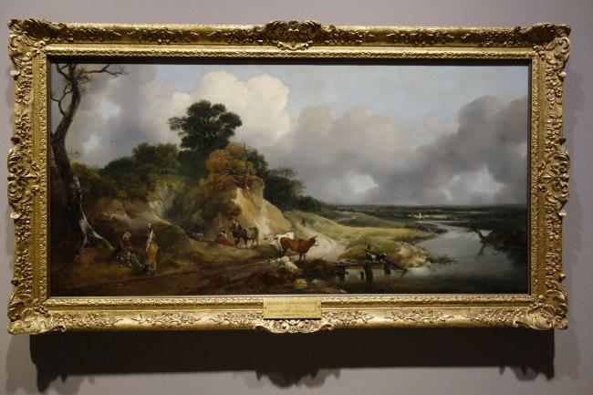 Thomas Gainsborough (England, 1727-88) 'River landscape with a view of a distant village' c. 1748-50
