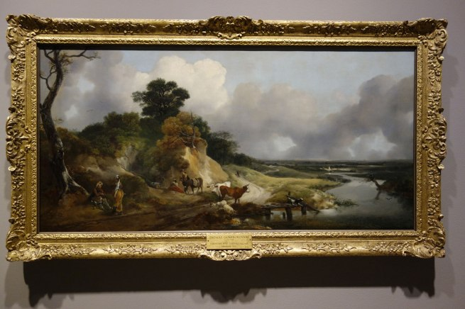 Thomas Gainsborough (England, 1727-88) 'River landscape with a view of a distant village' c. 1748-50