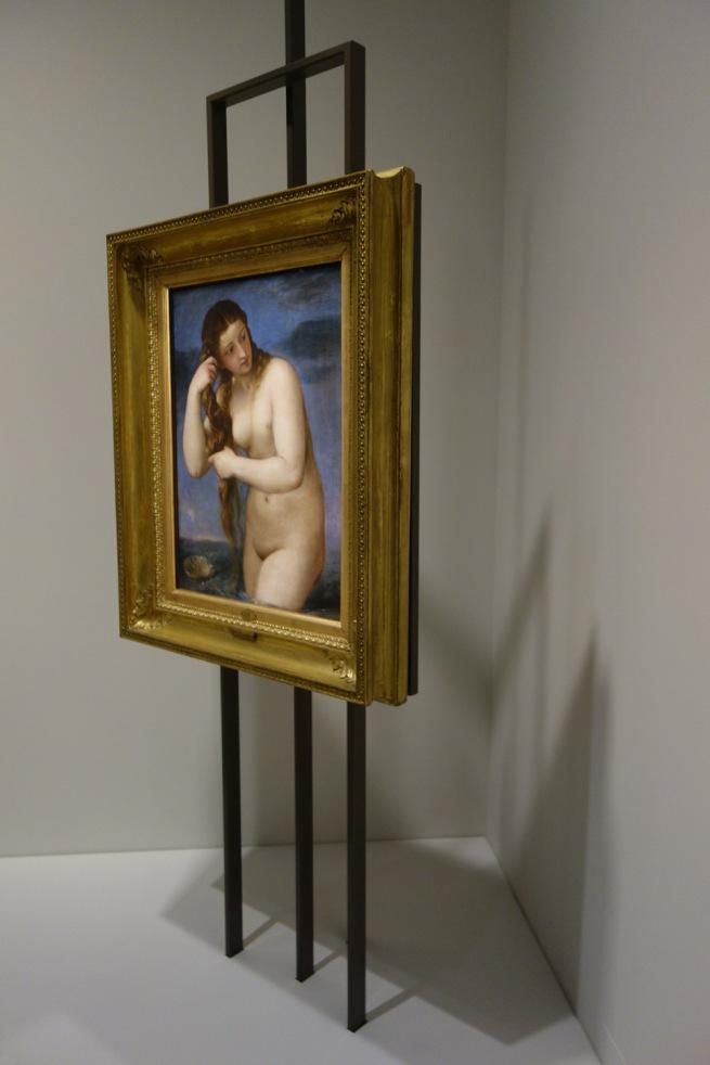 Installation photograph of Titian (Tiziano Vecellio) (Italian, c. 1485/90–1576) 'Venus rising from the sea (Venus Anadyomene)' c. 1520–25
