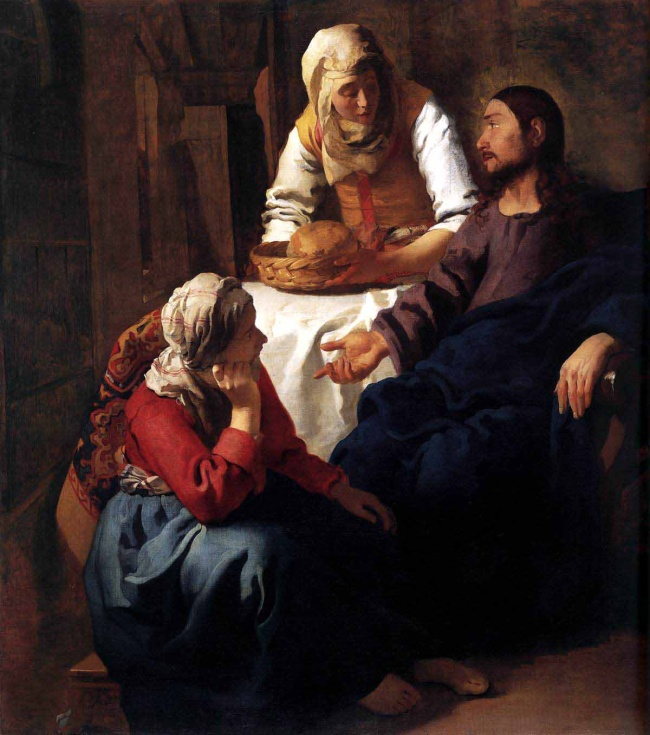 Johannes Vermeer (The Netherlands, 1632-75) 'Christ in the house of Martha and Mary' c. 1654-55