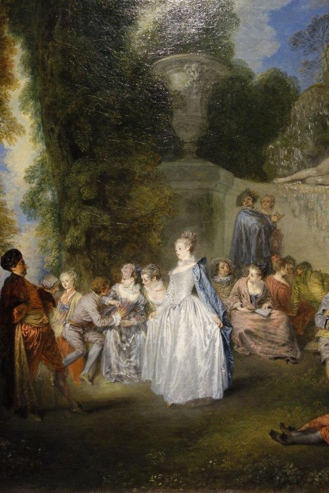Jean-Antoine Watteau (France, 1684-1721) 'Fêtes vénitiennes (Venetian pleasures)' (detail) 1718-19
