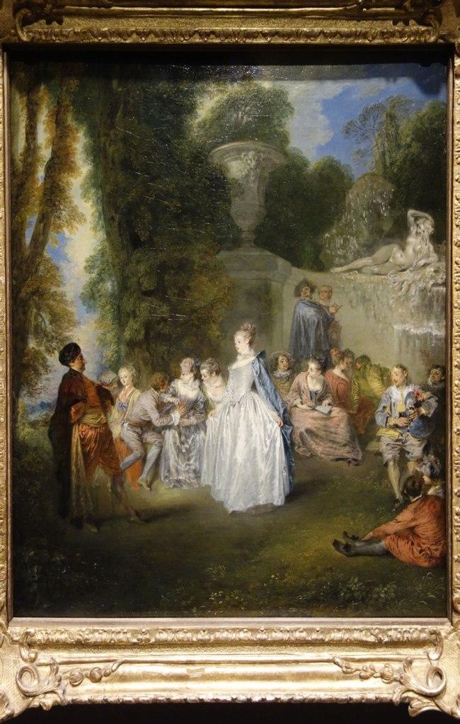 Jean-Antoine Watteau (France, 1684-1721) 'Fêtes vénitiennes (Venetian pleasures)' 1718-19