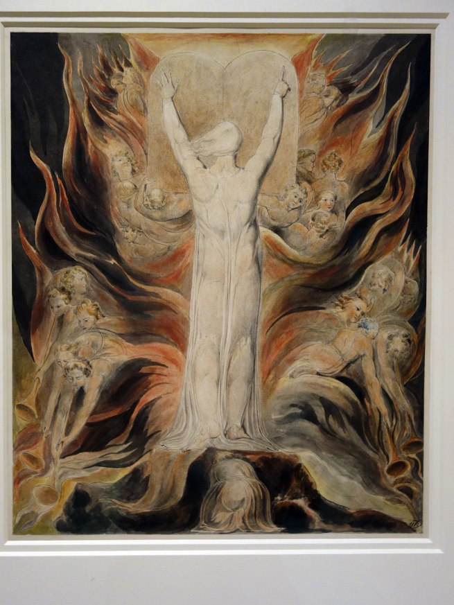 William Blake (England, 1757-1827) 'God writing upon the tables of the Covenant' c. 1805
